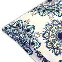 Embrace your excitement in the every day with the Ashley printed Sheet Set. This lively print is rooted in earthy tones with a soft green and pale-yellow background, teal Flat Sheets, Bed Sheets, Sweet Home Collection, Teal Accents, Comfy Bed, King Sheet Sets, Mandala Pattern, Yellow Background, Bedding Sets