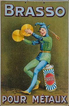 1920s Brasso metal polish French vintage advert