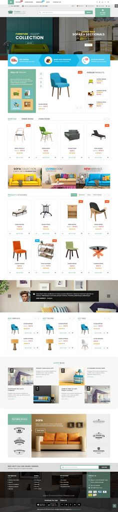 Furnicom is modern Responsive #Prestashop Theme for stunning Furniture, #decor…