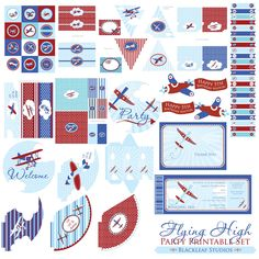 vintage plane party printables - Google Search