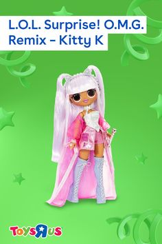 Pump up the volume with the L.O.L. Surprise! O.M.G. Remix – Kitty K doll! Unbox her to find a record they can really play on the included record player! Of course, they'll also have 25 surprises to unbox including fierce fashions, accessories and more!