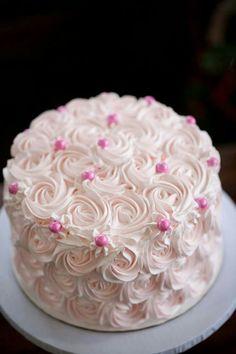 Baby Shower Cupcake Cake, Shower Cakes, Cupcake Cakes, 1st Birthday Cake For Girls, Birthday Sheet Cakes, Beautiful Birthday Cakes, Beautiful Cakes, Rose Swirl Cake, Fairy Cupcakes