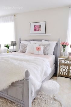 41 Awesome Pink and Gold Girl's Bedroom Decor Makeover On A Budget | Justaddblog.com #bedroom #bedroomdecor