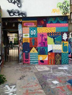 painting in Paris – with sébastien touache – Graffiti World Mural Wall Art, Wall Art Prints, Graffiti Art, R Cafe, Art Public, Wal Art, Arte Fashion, School Murals, Murals Street Art