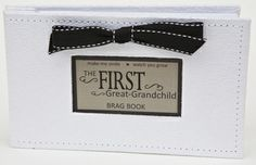 Grandparent Gifts Great-Grandchild Brag Book white faux-suede images White faux-suede brag book with ribbon accent Holds up to 32 photos or First great-grandchild Gifts For Great Grandparents, Great Grandma Gifts, Grandparent Gifts, Grandpa Gifts, Brag Book, 60th Birthday Gifts, First Mothers Day, Grandchildren, Thoughtful Gifts