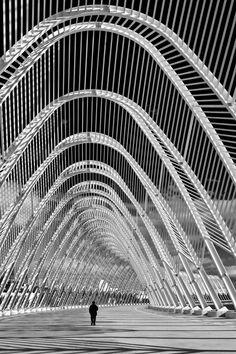 Oaka Stadium, Athens Greece, By Santiago Calatrava