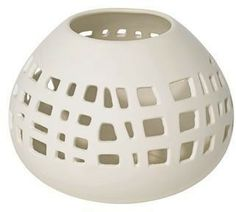 Bravi Collection Matte White Ceramic Tealight Candle Holder | LampsPlus.com