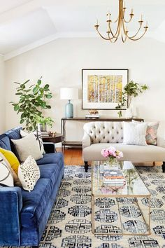 A classic living room full of pattern: http://www.stylemepretty.com/living/2017/02/08/a-classic-home-tour-full-of-gorgeous-pattern/ Photography: Colin Price - http://colinprice.photography/