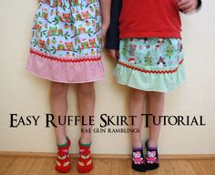 Easy Ruffle Skirt Tutorial and Sewing with Kids - Rae Gun Ramblings