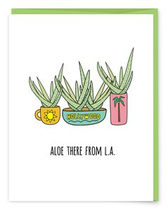 """L.A. locals or L.A. vacationers, send a little """"hello there"""" cheer from La La Land. • A6 folded card • blank inside • matching French Paper envelope"""