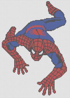 Spiderman Perler Bead Pattern by Sebastien Herpin