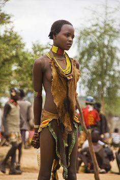 Young Hamer girl, Turmi, Ethiopia