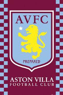 Aston Villa Football Club PREPARED Official Team Crest Logo Poster~available at www.sportsposterewarehouse.com