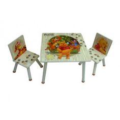 שולחן וכסאות פו שמנת