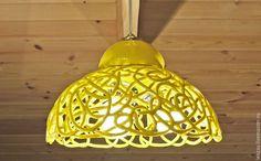 Купить Светильник Солнечный - желтый, керамический плафон, плафоны для люстр, керамические люстры, дизайн интерьра