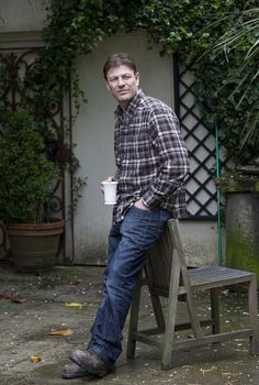 Spruce up a backyard nook and your old distressed furniture with Sean Bean dressed as a contractor.