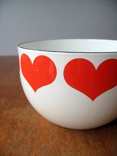 Arabia Finland - Finel Enamel Heart Bowl