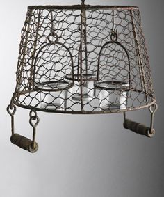 Surely to goodness, I can make something like this.....Hanging Basket Chandelier Candle Holder | something special every day
