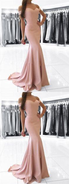 Pink Prom Dresses, Long Prom Dresses, Cheap Prom Dresses Modest Prom Dresses For Teens, Silk-like Satin Prom Dresses Off-the-shoulder, Trumpet/Mermaid Prom Dresses Sashes / Ribbons Pink Party Dresses, Prom Dresses 2018, Long Prom Gowns, Mermaid Prom Dresses, Cheap Prom Dresses, Ball Dresses, Sexy Dresses, Nice Dresses, Dress Prom