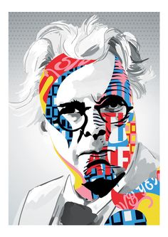 Blog — Gary Reddin Ink. W.b. Yeats. Pop Art, Poet, Sligo, Nobel prize, Colourful, Cool illustration, layering, Awesome art, Art