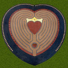 Heart in the Park Labyrinth, Designed by Marty Kermeen - Design collaboration with Jeff Saward