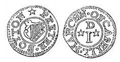 Aquilla Smith's engraving of Peter Boyton's penny token (Cashel)