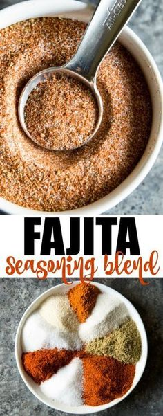 Skip the store-bought packets and make your own homemade Fajita Seasoning! It's incredibly simple and can be mixed together in minutes (and you can reduce or omit the salt and the sugar if you want to). This versatile spice blend is great on fajitas, taco Fajita Seasoning Packet, Fajita Mix, Fajita Spices, Homemade Fajita Seasoning, Seasoning Mixes, Chicken Quesadilla Seasoning, Best Fajita Seasoning Recipe, Chicken Fajitas Seasoning, Homemade Spice Blends