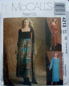 McCalls 4213 Womens Empire Waist Dress Bust 36 to by Denisecraft, $5.99