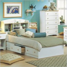 South Shore Newbury Twin Storage Bed Frame Only in White - 3263080 - Lowest price online on all South Shore Newbury Twin Storage Bed Frame Only in White - 3263080