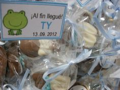 Bombones de chocolate de nacimiento para Ty que nacio en el Hospital Aleman