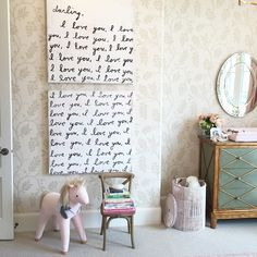 This glamourous nursery for @rachparcell got photographed yesterday and I can't wait to share the lovely space we created for her darling Isla Rose