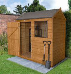 Overlap Dip Treated 6x4 Reverse Apex Shed | Forest Garden