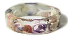 Sea Shell Resin Bangle