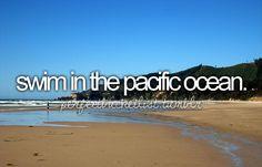 swim in the pacific ocean
