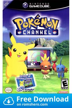 Get Pokemon Channel for the Nintendo Gamecube now on Sale. This game also plays on the Wii! Cool Pokemon, Pokemon Sun, Pokemon Games, Ds Games, Cute Games, Games To Play, Nintendo Ds, Super Nintendo, Pokemon Channel
