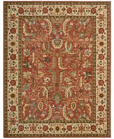 Nourison Area Rug, Only at Macy's, Persian Legacy PL04 Terracotta 9' 9