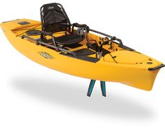 Hobie Mirage Pro Angler 12 Single Fishing Kayak Dominate the water, fresh or salt. The Pro Angler 12 deploys all the big-boat fishing features of the 'PA' series on a long platform that fits neatly in the back of most any p Pedal Fishing Kayak, Fishing Kayak Reviews, Kayak Camping, Best Fishing, Fishing Tips, Fishing Rod, Camping Stuff, Kayaks, Hobie Kayak