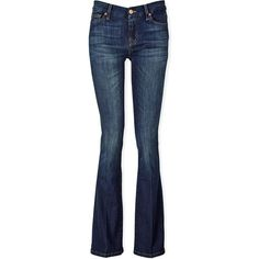 7 For All Mankind Bootcut Jeans ($105) ❤ liked on Polyvore featuring jeans, bottoms, calças, denim, brooklyn dark, dark bootcut jeans, slim jeans, slim boot cut jeans, slim bootcut jeans and 5 pocket jeans