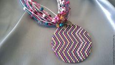 Купить Кулон из полимерной глины. - разноцветный, кулон, Кулон ручной работы, кулон на шнуре