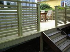 Modern Deck, Cedar Fence, Deck Railings, Outdoor Living, Outdoor Decor, Deck Design, Arno, Creative Home, Outdoor Gardens