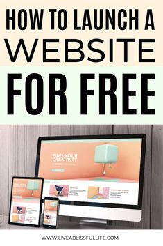 Mar 2020 - How To Launch A Website For Free The Quick & Easy Way Can you create a WordPress website for free? Making Your Own Website, Start A Website, Create Your Website, How To Start A Blog, How To Make, Create Free Blog, Earn Money Online, Make Money Blogging, Way To Make Money