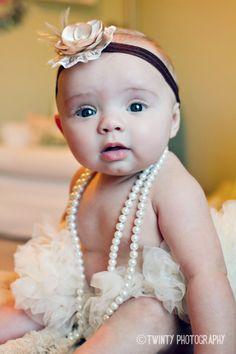 pearls, flowers, tutus