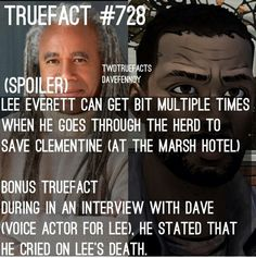 The Walking Dead Game true fact Walking Dead Facts, Walking Dead Cake, The Walking Dead Telltale, Walking Dead Zombies, Daryl Dies, Video Game Movies, Stuff And Thangs, True Facts, Voice Actor