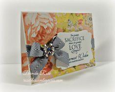 Rose Blossom Legacies: Easter Card