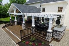Covered Deck Design Ideas Gabled Roof Open Porch