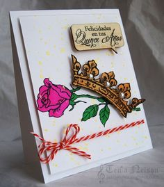 Stamps by Stampendous!, inks by IMAGINE Crafts/Tsukineko and markers by COPIC. Created by Tenia Nelson