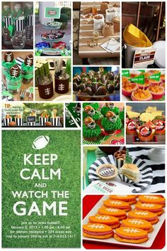 Collage for Superbowl party ideas