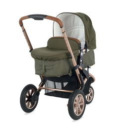 £350 Mothercare Xpedior Pram and Pushchair Travel System - Khaki Special Edition