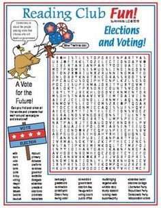 Elections and Voting Word Search Puzzle