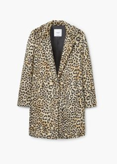 10 Cold-Weather Outfits to Stay Warm and Look Cool Faux Fur Lined Coat, Brown Faux Fur Coat, Look Rock, Mango Coats, Leopard Print Coat, Zara, Printed Blazer, Cold Weather Outfits, Mantel